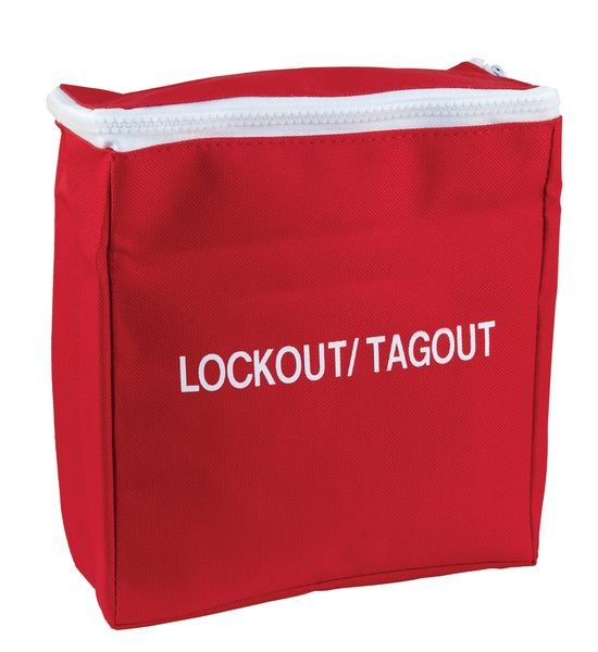 Grote, rode opbergtas voor lockout / tagout