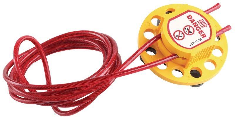 Vergrendelingssysteem voor lockout met kabel, voor 12 hangsloten
