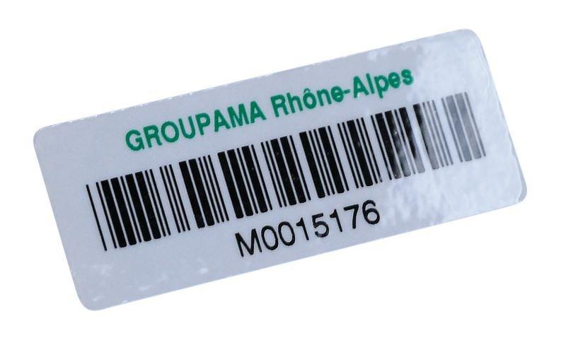 Personaliseerbare stickers met barcode, van gelamineerd papier