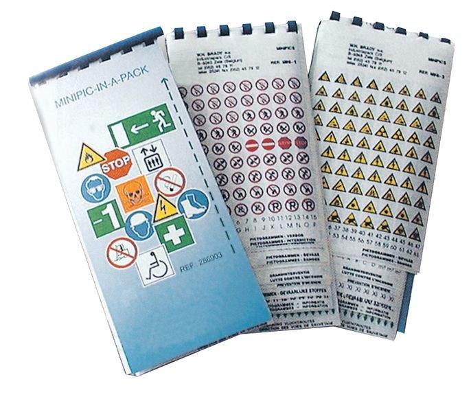 Assortiment veiligheidsstickers van miniformaat