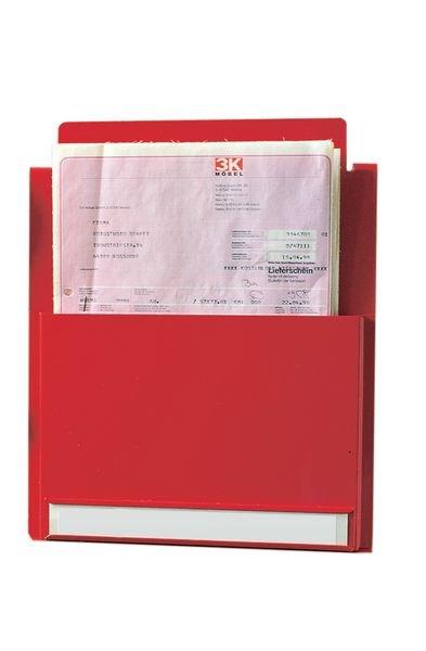 Gekleurde brochurehouder van metaal, A4- of A5-formaat