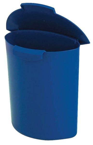 Ronde prullenbak voor afvalscheiding op kantoor