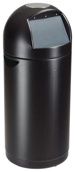 Design vuilnisbak van gepoederlakt staal, met binnenbak