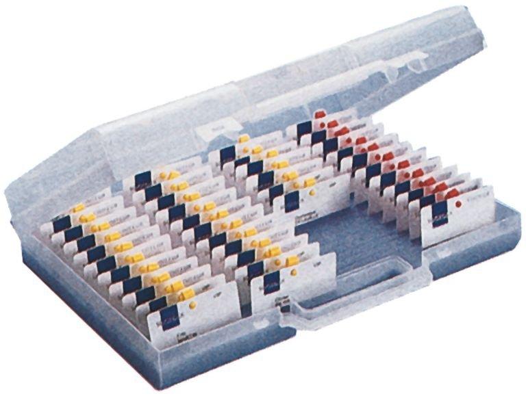 Transparante opbergkoffer voor gepersonaliseerde badges