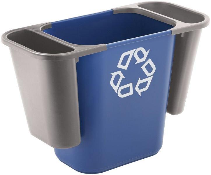 Extra compartiment voor blauwe vuilnisbak