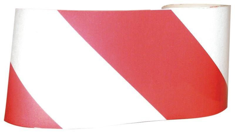 Rood/witte, reflecterende waarschuwingstape