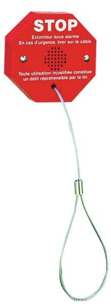 Antidiefstal alarm met kabel voor brandblusser