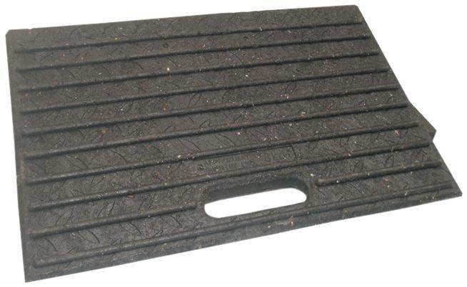 Onbreekbare oprijplaat voor rolstoel, van rubber