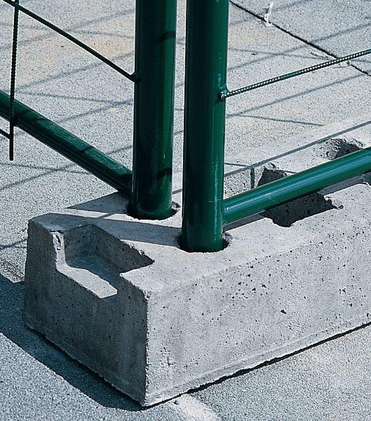 Betonnen bouwhekvoet