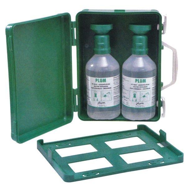 Oogspoelstation: plastic wandbox + 2 x 500 ml zoutoplossing