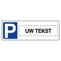 Personaliseerbare parkeerborden type nummerplaat