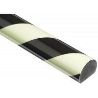 Afgeronde stootrand voor muur Optichoc, gearceerd - oppervlak van 35 mm