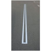 Sjablonen voor grondmarkering op parkings