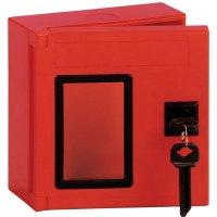 Vierkante, rode sleutelkast van ABS