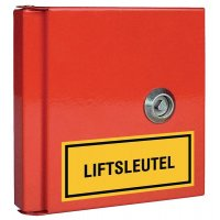 Rode sleutelkast voor technische lokalen