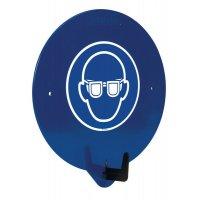 "PBM-deurhaak met pictogram ""Veiligheidsbril verplicht"""