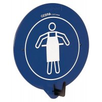 """PBM-deurhaak met pictogram """"Beschermkledij verplicht'"""