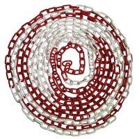 Kunststof afzetketting in rood wit, 5 meter