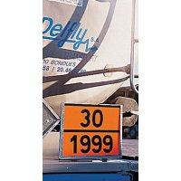 Personaliseerbare, oranje ADR-borden voor transport van gevaarlijke stoffen