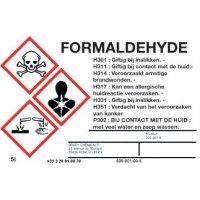 Personaliseerbare identificatie-etiketten voor gevaarlijke stoffen
