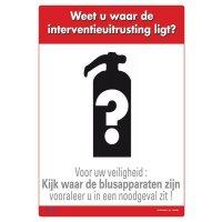 Brandveiligheidsposters - Weet u waar de interventie-uitrusting ligt?