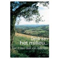 Posters voor milieubescherming - Denk aan het milieu...