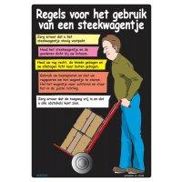 Veiligheidsposters - Regels voor het gebruik van een steekwagentje