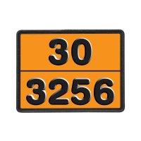 Oranje ADR-borden voor transport van gevaarlijke stoffen met cijfers in reliëf