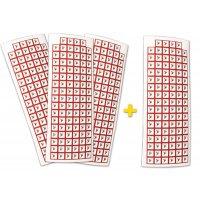 """Set stickers met CLP-pictogrammen - 3+1 vellen """"Explosieve stoffen"""" - GHS01"""