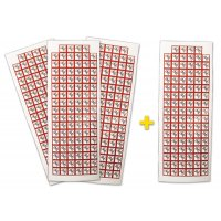 "Set stickers met CLP-pictogrammen - 3 + 1 vellen ""Acute toxiciteit categorie 1, 2, 3"" - GHS06"