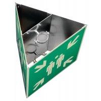 Kit verzamelplaatsbord ISO 7010, kubus-, driehoek- of cilindervormig
