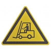 """Antislipstickers voor vloer """"Waarschuwing transportvoertuigen"""""""