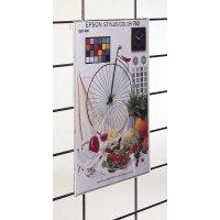 Display van plexiglas, combineerbaar met rooster