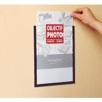 Zelfklevende documentbeschermers van plexiglas, met gekleurd kader