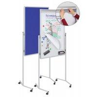 Magnetisch whiteboard met papierklem en textielbord (3-in-1-bord)