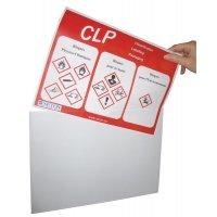 Transparante, magnetische affichehouder, A4-formaat