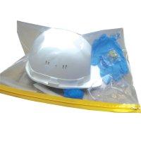 PBM-kit met handschoenen, veiligheidsbril, haarnet, overschoenen, oordopjes