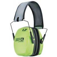 Oorkappen met SNR 32/34 dB Howard Leight Leightning® , fluogeel en opvouwbaar