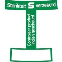 Controle-etiketten voor het openen van steriele flacons