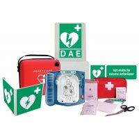 Pack met HS1 defibrillator Philips + EHBO-koffer gratis