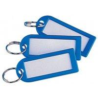 Herbruikbare sleutelhangers met verwisselbaar label en sleutelring van plastic