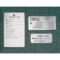 Personaliseerbare aluminium plaatjes met tekst en nummering
