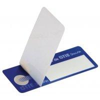 Personaliseerbare, zelflaminerende eigendomsetiketten van gemetalliseerd polyester