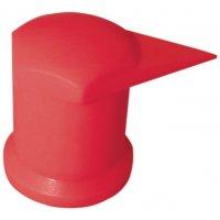 Torsie-indicator van fluo plastic voor loskomende moeren, model met dopje
