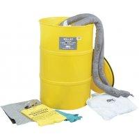 Kit met absorptiemiddelen in een vat, voor olie
