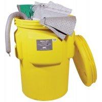 Kit met absorptiemiddelen in een vat, voor chemicaliën
