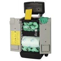 Veiligheidsstation met absorptiemiddelen, speciaal voor chemicaliën