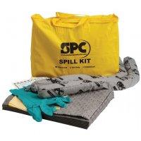 Kit met absorptiemiddelen voor alle industriële vloeistoffen, in draagtas