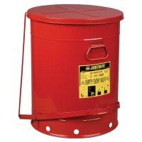 Veiligheidsafvalbak met pedaal voor ontvlambare producten
