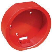 Cylindrische, rode sleutelkast voor noodsleutel
